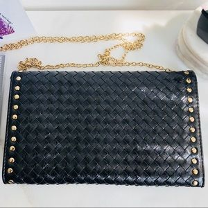 Mystique Bags - Mystique Black Woven Leather Clutch / Sling Bag